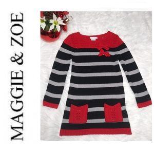 MAGGIE & ZOÉ GIRL LONG SWEATER/ SZ 6X